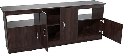 Inval MTV-6719 Contemporary Flat-Screen TV Stand, 60-Inch, Espresso-Wengue