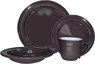 Emile Henry 16-Piece Urban Dinnerware Set, Service for 4, Slate