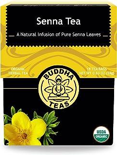 Organic Senna Tea – 18 Bleach Free Tea Bags – Natural Laxative to Use As-Needed, Antioxidants, Kosher, Caffeine Free, GMO-...