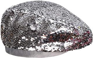 63bed5d54e372 Women Vintage Dance Beret Fashion Sequin Casual Hat Artist Singer Caps  Novelty New Ladies Hats