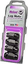 McGard 64074 Chrome/Black (M14 x 1.5 Thread Size) Bulge Cone Seat Style Lug Nut, (Set of 4)