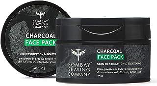 Bombay Shaving Company Charcoal Face Pack Anti-Pollution & Anti- Blackhead, No Parabens, Wash Off Face Mask, Black, 100 g