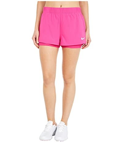 Nike Flex Shorts (Vivid Pink/White) Women