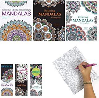 3 Mandala Adult Coloring Books Calming Stress Relieving Relax Designs Paperback