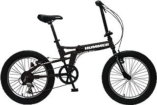 HUMMER(ハマー) FDB206FAT-BIKE 20インチ 極太3.0タイヤ 折りたたみ式 迫力ある自転車 シマノ製6段変速/前後Vブレーキシステム 13284