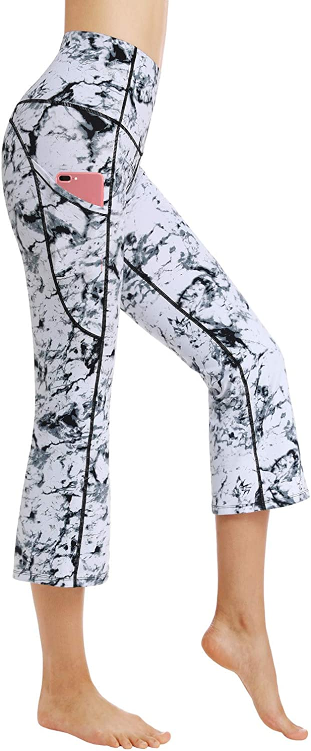 Dragon Fit Bootcut Yoga Pants with Side Super sale period limited Waist High Ranking TOP14 Pockets Worko