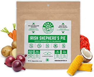 Nomad Nutrition Irish Shepherd's Pie – Nutrient Packed, Plant Based Protein Meals for Camping and Travel – Vegan, Gluten Free, Dairy Free, Non-GMO (3.5oz)
