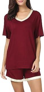 قميص قصير الأكمام للنساء من Invug مجموعة ملابس النوم لباس النوم