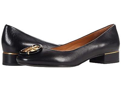 Tory Burch Multi Logo Block Heel (Perfect Black) Women