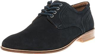 Manz - Zapatos de Cordones de Piel para Hombre Azul Azul (Ocean)