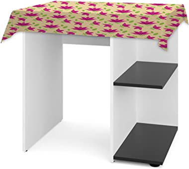 Dr Smith Multi Functional Wood Computer Desk/Office Writing Table with Shelves for Home