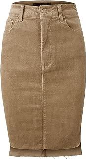 Women's Casual Dailywear Corduroy Midi Skirt w/Pockets [4 Colors]