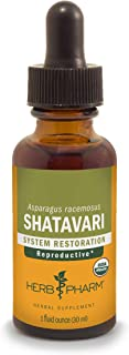 Herb Pharm Certified Organic Shatavari Liquid Extract for Female Reproductive System Support - 1 Ounce