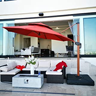 cantilever umbrellas with sunbrella fabric