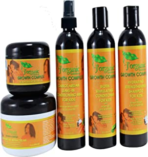 J'Organic Solutions Kids Super Moisturizing, Hydrating healthy hair Growth set
