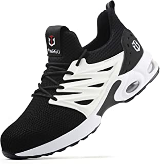 Hsyooes Safety Shoes Mens Womens Steel Toe Work & Utility Footwear Puncture Proof Trainers Sport Sneakers Unisex
