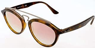 RAY-BAN RB4257 Gatsby II Round Sunglasses, Matte Havana/Mirror Gradient Copper, 50 mm