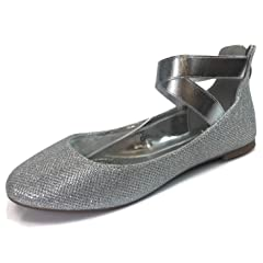 af34504cf47b Womens and Girls Ankle Wrap Ballet Flats with Criss Cross Ela .
