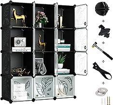 DIY Scaffale Portaoggetti Portatile Miadomodo Armadio Modulare Bianco Fai da Te Modular Storage 18 Cubi di Plastica Guardaroba a Scompartimenti con Ante