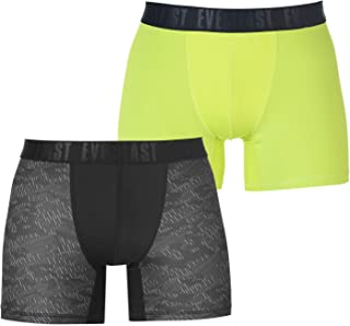 Everlast Men Training Trunk 2 Pack Black/Lime XL