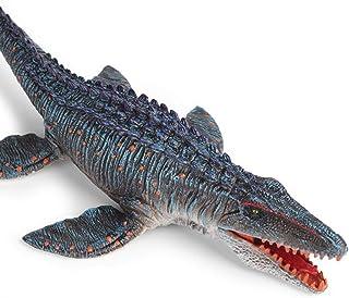 34 cm solid Mosasaur Liopleurodon modell, plastsimulering djur marin dinosaurie modell dekoration, används för samlare för...