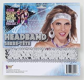 Womens Sequin Club Dazzle Flapper Disco Costume Headband