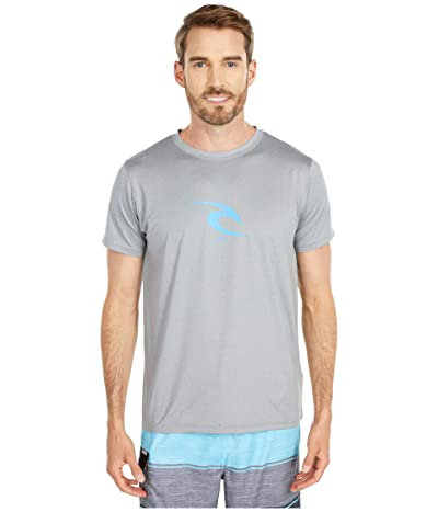 Rip Curl Icon Short Sleeve UV Tee (Light Grey) Men