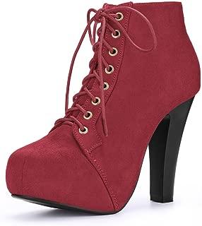 Women's Platform Lace up Booties