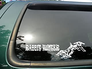 Rabbit Hunter- Die Cut Vinyl Window Decal/sticker for Car or Truck 3.5