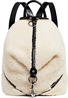 Women's Shearling Julian Side Zip Backpack, Natural, Off White, One Size