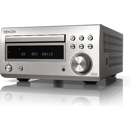 デノン Denon RCD-M41 ワイドFM AM/FMラジオチューナー ディスクリートアンプ搭載 Bluetooth®対応 CDレシーバー プレミアム シルバー RCD-M41SP