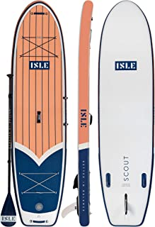 """ISLE 11' Scout - Inflatable Stand Up Paddle Board - 6"""" Thick iSUP and Bundle Accessory Pack - Durable and Lightweight - 3..."""