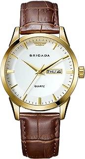 BRIGADA Quartz Men's Watch Waterproof, for Men with Date Calendar