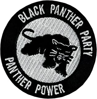 Patch Iron on Sew on Black Panther Party 2.76 Inch / 2.76 Inch