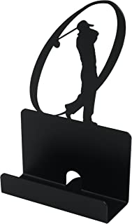 Business Card Holder Stand For Office Coffee Shop Store Organizer Christmas Valentines Day Graduation Gift - Swingball shape - Black