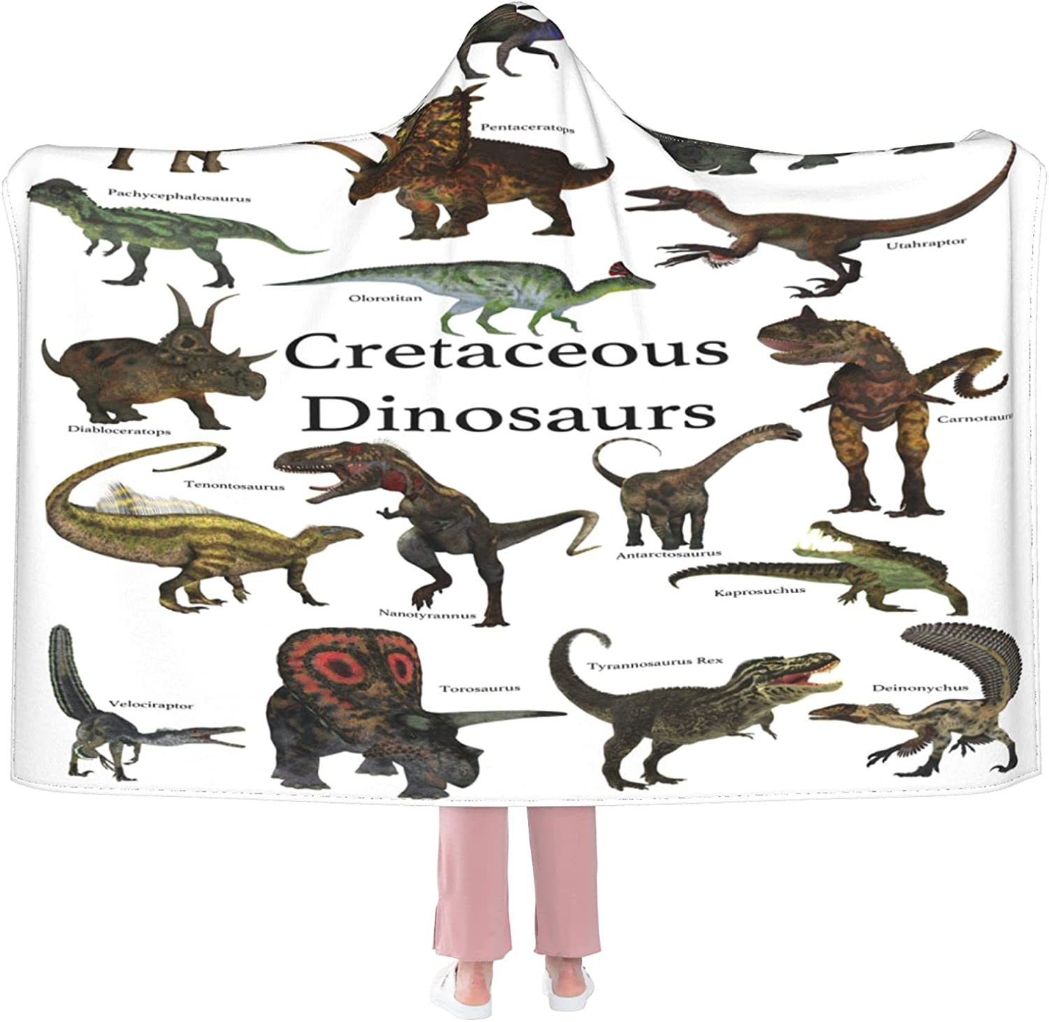 Dinosaur Wearable Blanket Flannel specialty shop Soft Choice C Hooded