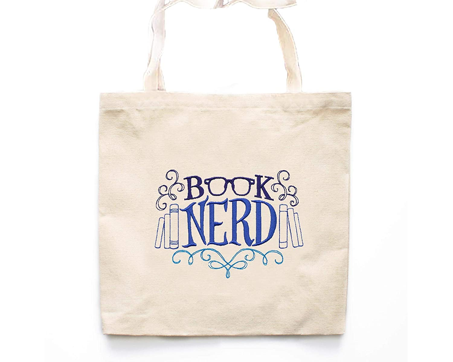 Superior OFFicial site Book Nerd Tote Bag-Market Bag-G Lover Bags-Book Canvas
