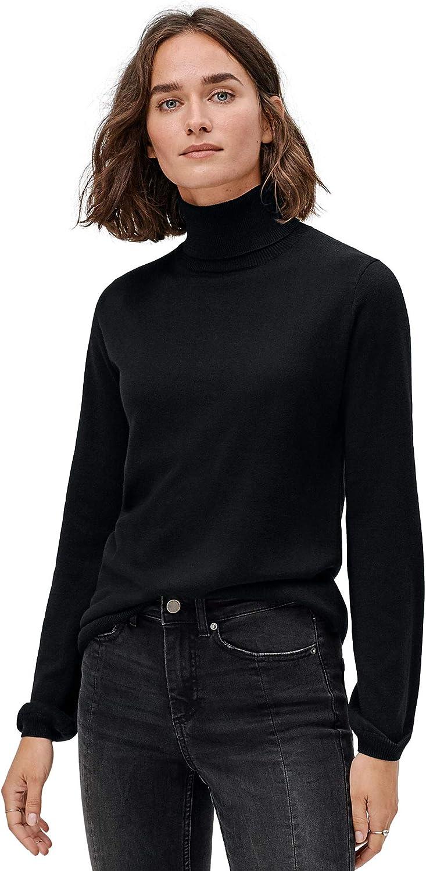 ellos 秀逸 Women's Plus Size Blouson Turtleneck 高品質 Pullover Sleeve