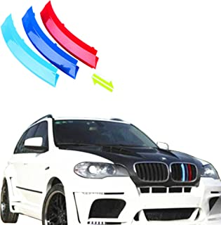 Jackey Awesome Exact Fit ///M-Colored Grille Insert Trims for BMW 2008-2013 E70 X5 and 2008-2011 E71 X6 with M-Performance Black Kidney Grill (for BMW 2008-2013 X5, 2008-2011 X6)