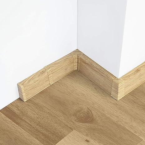 Endst/ück links 55mm PVC Eiche Antik Laminatleisten Fussleisten aus Kunststoff PVC Laminat Dekore Fu/ßleisten DQ-PP