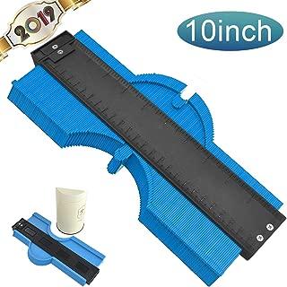 【2019 New】10 Inch Contour Gauge Duplicator Profile Copy Gauge Contour Gauge Shape Duplicator Standard Woodworking Tracing Template Measuring Profile Jig Shape Duplicator (Blue)