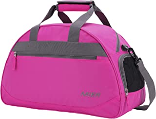 MIER 20 Inches Sports Gym Bag Travel Duffel Bag with Shoes Compartment for Women and Men (Pink)