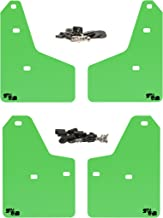 RokBlokz Mud Flaps for 2012+ Ford Focus - Multiple Colors Available - Set of 4 - Fits All MK3 Models - Includes All Hardware and Detailed Instructions (Lime Green with Black Logo, Shortz)