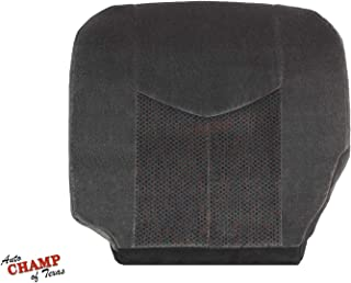 Auto Champ Of Texas: Compatible With - 03-07 Chevy 1500HD 2500HD 3500 LS LT-Driver Side Bottom Cloth Seat Cover Dk Gray
