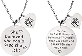 Stainless Steel Necklace Inspiration Gifts for Mother,Friends, Sister, Mom, Daughter, Grandmother, Wife