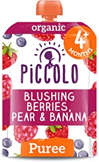 Piccolo Blushing Berrier with Pear & Banana, Multicolour, Small