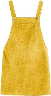 Women's Straps A-line Corduroy Pinafore Bib Pocket...