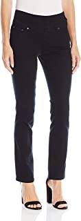 Jag Jeans Women Black US 4P Petite Pull On Straight Leg Jeans Stretch