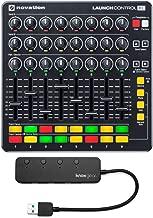 Novation Launch Control XL MIDI USB Ableton Live Controller with Knox Gear 3.0 4 Port USB Hub Bundle