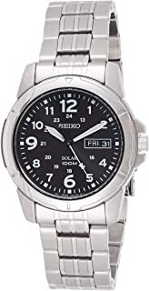 Seiko Mens Quartz Watch, Analog Display and Stainless Steel Strap SNE095P1